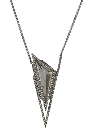 Pendant Necklace with Crystals Gr. One Size