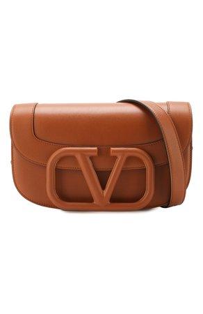 Женская коричневая сумка valentino garavani supervee VALENTINO — купить за 159000 руб. в интернет-магазине ЦУМ, арт. TW0B0G09/MZF