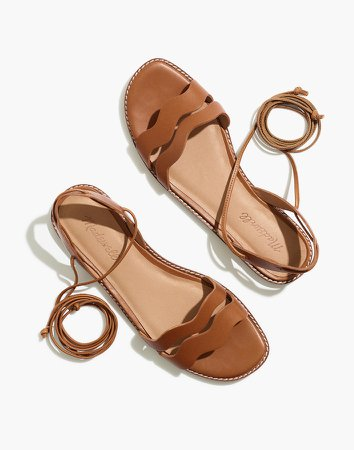 The Wave Lace-Up Sandal in Leather