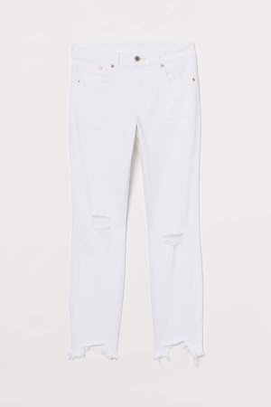 Skinny High Ankle Jeans - White