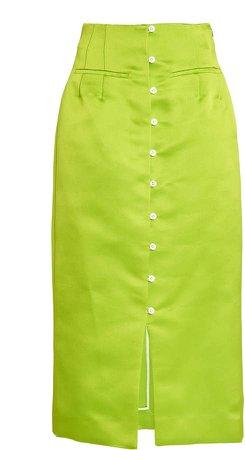Rosie Assoulin High-Rise Silk Pencil Skirt