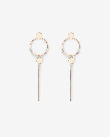 Hoop & Bar Drop Earrings | Express