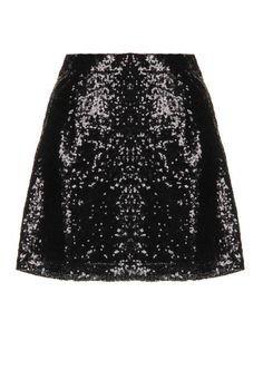 black glitter sequin skirt