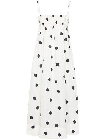 GANNI polka-dot Print Midi Dress - Farfetch