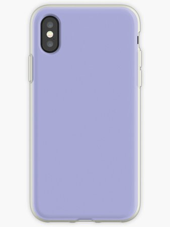 """Pastel Purple / Periwinkle Solid Color"" iPhone Cases & Covers by patternplaten 