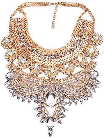 Amazon.com: NABROJ Tribal Necklace for Women Vintage Sagging Droplets Statement Necklace, Black Bib Necklace Costume Jewelry for Wedding Prom 1 pc-HL23 Black: Jewelry