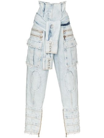 Balmain high-rise Distressed Jeans - Farfetch