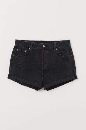 H&M+ Denim Shorts - Black