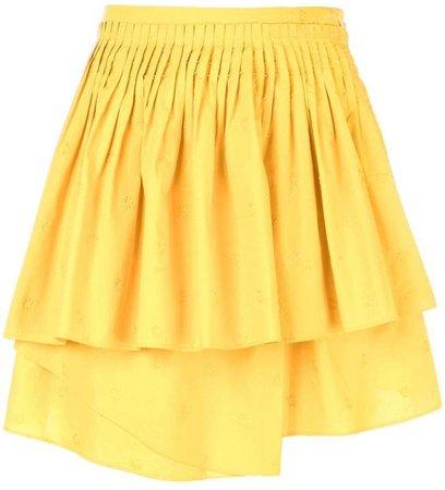 tiered gathered skirt