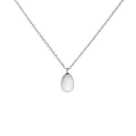 Catbird, Swan Egg Necklace, Silver