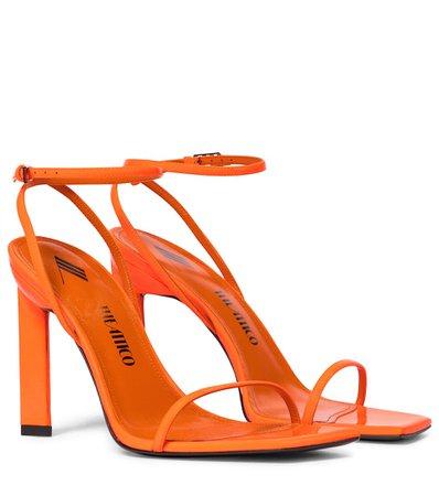 The Attico - Patent leather sandal | Mytheresa
