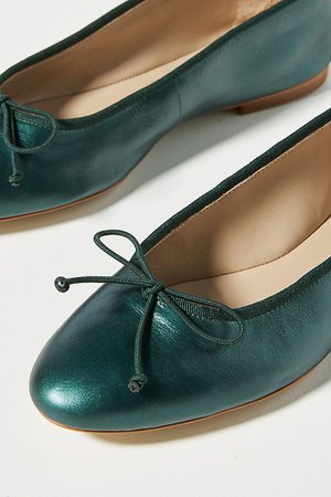 Guilhermina Leather Ballet Flats | Anthropologie