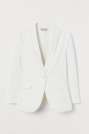 Shawl-collar Blazer - White