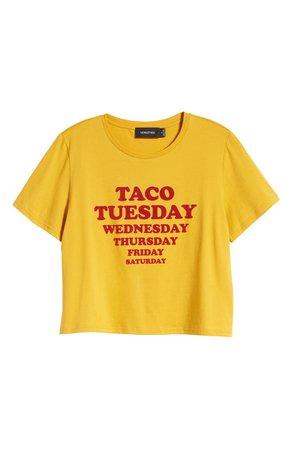 MINKPINK Taco Week Graphic Crop Tee cropped top
