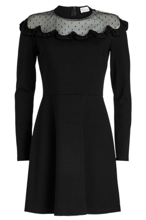 Jersey Dress with Point d'esprit Gr. S