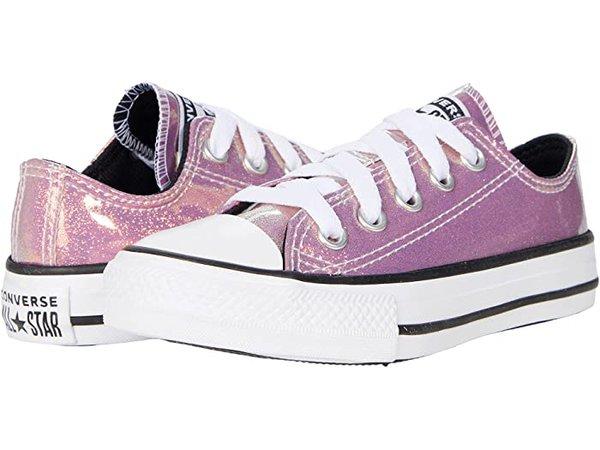 Converse Kids Chuck Taylor® All Star® Ox - Iridescent Glitter (Little Kid/Big Kid)   Zappos.com