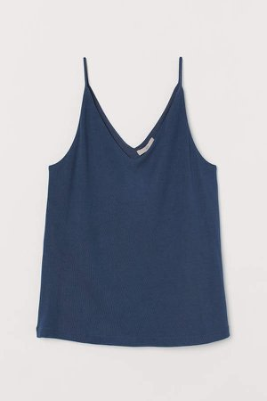 V-neck Camisole Top - Blue