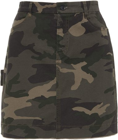 ATM High-Waisted Camouflage Cotton-Twill Mini Skirt Size: 0
