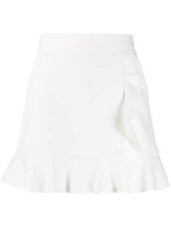 RedValentino frilled hem high-waisted skirt