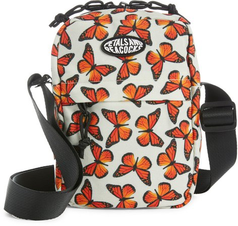 Petals And Peacocks Butterfly Effect Shoulder Bag