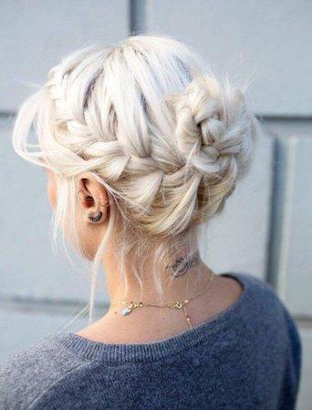Short White-Blonde Hair
