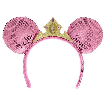 Amazon.com: Disney Parks Sleeping Beauty Aurora Pink Sequin Mouse Ears Headband: Everything Else