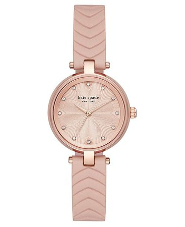 kate spade new york Women's Annadale Vellum Leather Strap Watch 30mm  - Watches  - Macy's