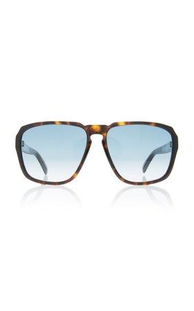 Givenchy Sunglasses Tortoiseshell Acetate Square-Frame Sunglasses
