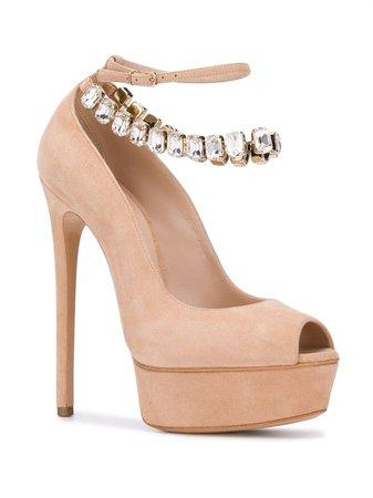 Casadei Crystal-embellished sandals $1,030 - Buy Online - Mobile Friendly, Fast Delivery, Price