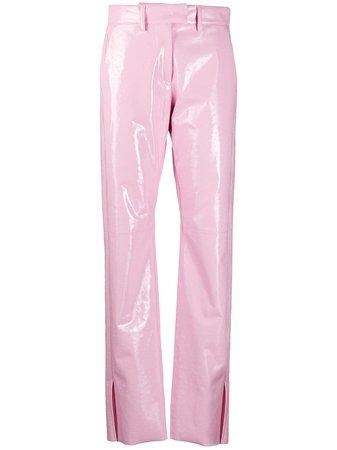 MSGM high-waist Vinyl Trousers - Farfetch