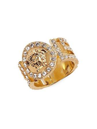 Versace Icon Medusa Swarovski Crystal Ring | SaksFifthAvenue