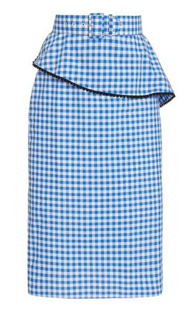 Belted Gingham Cotton-Blend Skirt By Rodarte   Moda Operandi