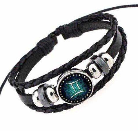 Gemini Leather Bracelet