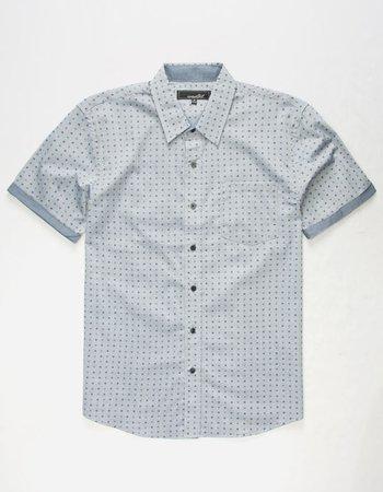 COASTAL Castle Mens Shirt - BLUE - 323396200 | Tillys