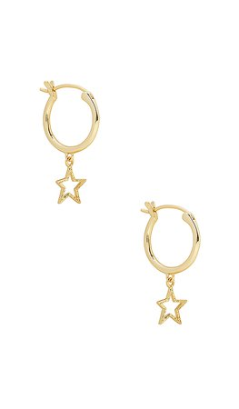 gorjana Super Star Huggies in Gold | REVOLVE