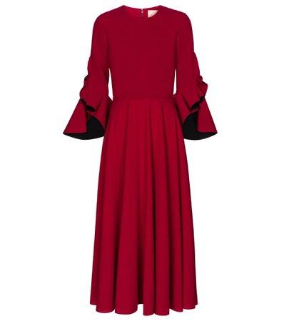 Roksanda - Caden crêpe midi dress | Mytheresa