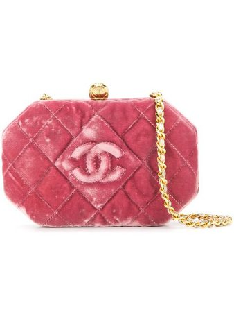 Chanel Vintage Quilted CC Logos Single Chain Shoulder Bag - Farfetch