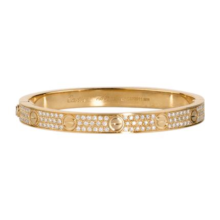 Cartier diamond-paved Love bracelet in yellow gold - Buscar con Google