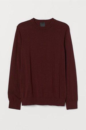 Fine-knit Sweater - Burgundy - Men | H&M US