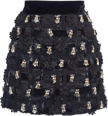 Dolce & Gabbana Embroidered Mini Skirt