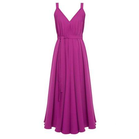 Iris Magenta Розовое платье-миди с экстремальными разрезами | UNDRESS | Волк и барсук