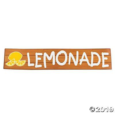 Paper Lemonade Party Lemonade Sign