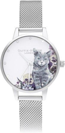 Illustrated Animals Mesh Strap Watch, 30mm