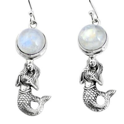 moonstone mermaid earrings