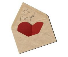 love letter w/ red heart