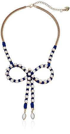 "Amazon.com: Betsey Johnson ""Ship Shape Faceted Bead Bow Necklace: Gateway"
