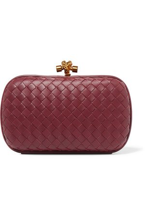 Bottega Veneta | Chain Knot intrecciato leather clutch | NET-A-PORTER.COM