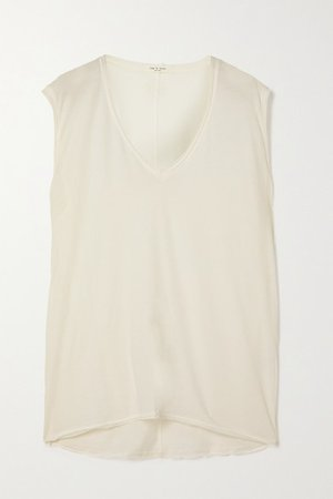 The Gaia Organic Pima Cotton-jersey Tank - White