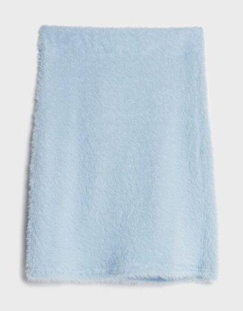 Faux fur mini skirt - Skirts - Woman   Bershka