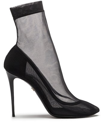 Dolce & Gabbana tulle stiletto ankle boots - FARFETCH